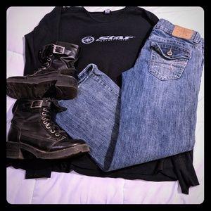 American Eagle boyfriend jeans 8 short